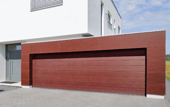 Секционные подъемные гаражные ворота