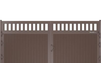 Щит решетчаный с вертикальным расположением сэндвич-панелей