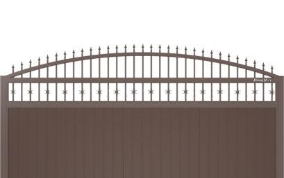 Щит арочный с пиками с вертикальным расположением сэндвич-панелей.