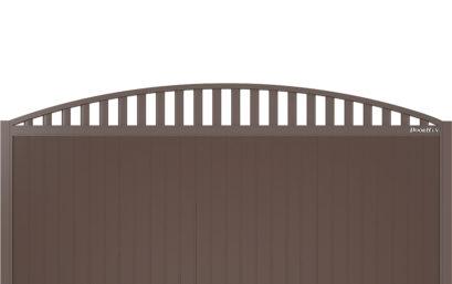 Щит арочный с решеткой с вертикальным расположением сэндвич-панелей.
