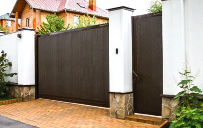 Откатные ворота DoorHan SLG-S стандартных размеров в алюминиевой раме с заполнением сэндвич-панелями