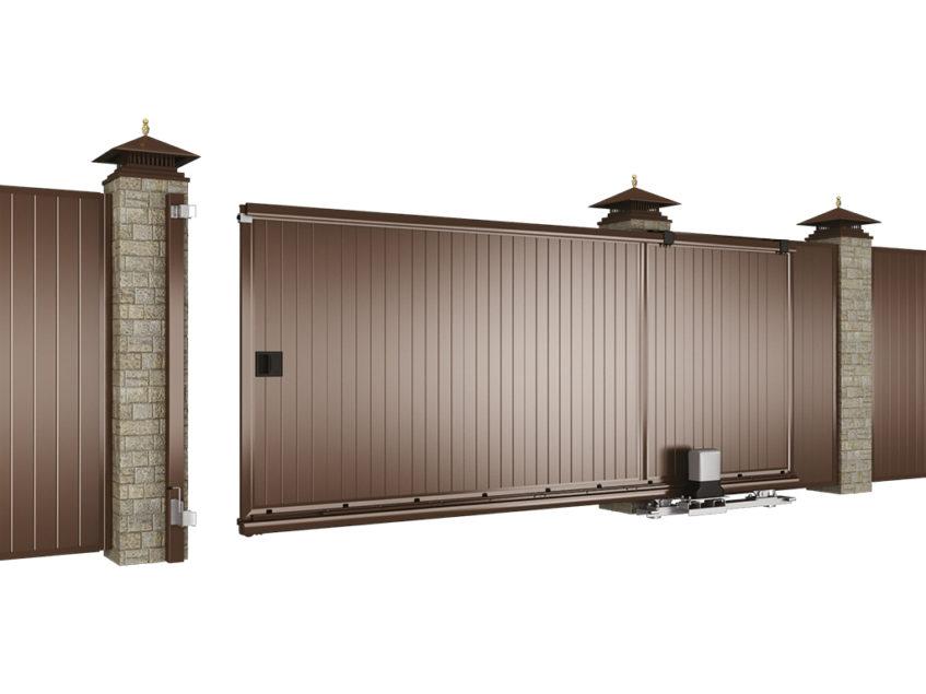 Внутренняя сторона сдвижных ворот стандартных размеров