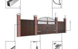 Элементы ворот для установкиворот