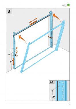 Инструкция стандартный монтаж гаражных ворот Alutech серии Trend