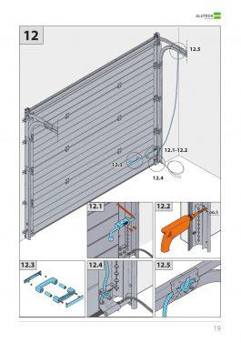 Монтаж гаражных ворот Alutech серии Classic с пружинами растяжения