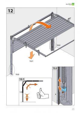 Инструкция стандартный монтаж гаражных ворот серии Trend с пружинами растяжения