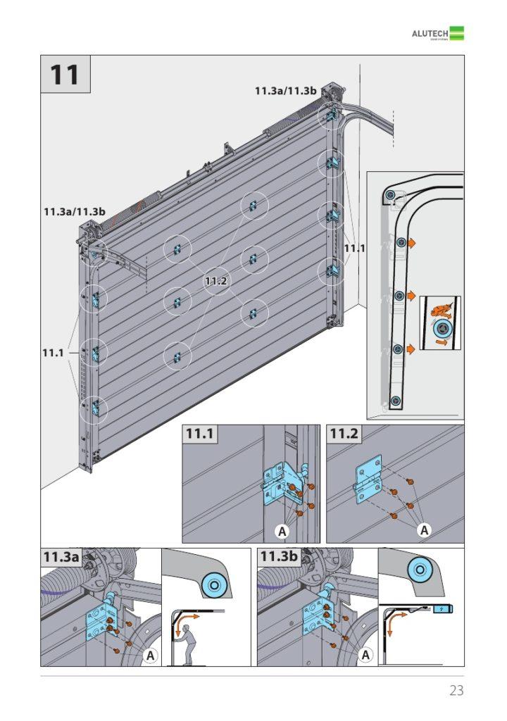 Гаражные ворота схема чертеж 49