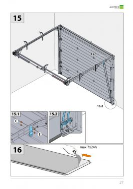 Низкий монтаж гаражных ворот Alutech серии Trend