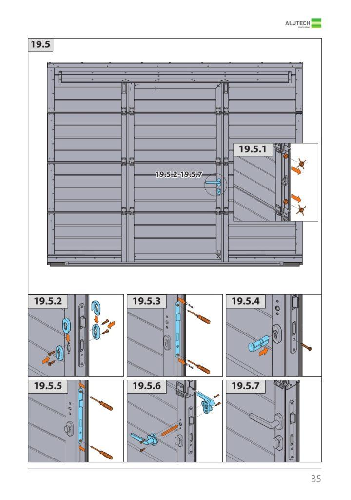 ворота алютех стандарт методика установки