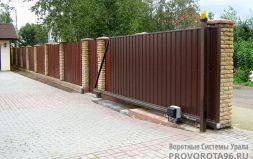 Откатные ворота собственного производства Чусовской тракт ДНТ Родник