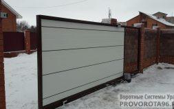 Откатные ворота собственного производства Серовский тракт п. Таватуй