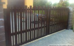 Распашные ворота выполненные работы