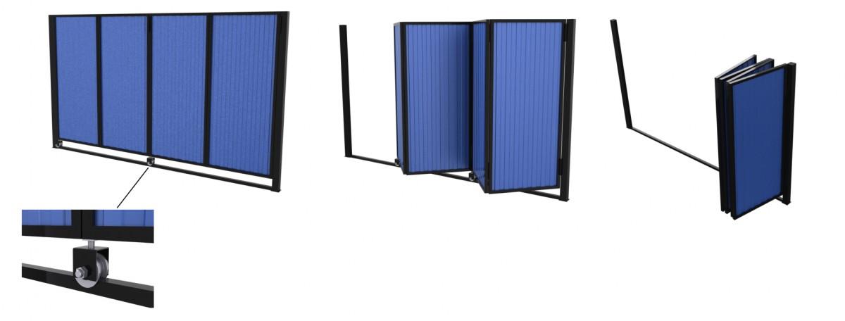Подъемные складные ворота в гараж 96