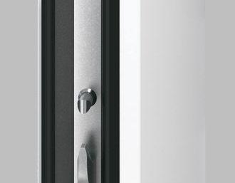 Входная дверь c терморазрывом Hormann Thermo65 МОТИВ 750F RAL 9016 (белый)