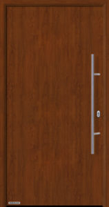 Входная дверь c терморазрывом Hormann Thermo65 МОТИВ 010 Dark Oak (темный дуб)