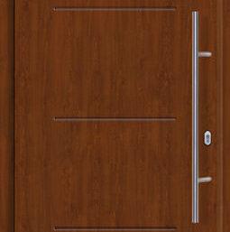 Входная дверь c терморазрывом Hormann Thermo65 МОТИВ 515 Dark oak (темный дуб)