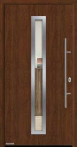 Входная дверь c терморазрывом Hormann Thermo65 МОТИВ 750F Dark oak (темный дуб)