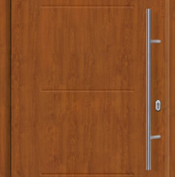 Входная дверь c терморазрывом Hormann Thermo65 МОТИВ 515 Golden oak (золотой дуб)