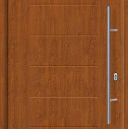 Входная дверь c терморазрывом Hormann Thermo65 МОТИВ 015 Golden oak (золотой дуб)