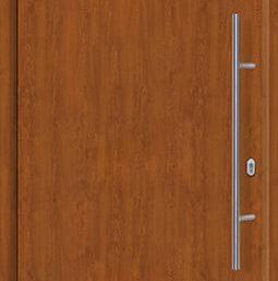 Входная дверь c терморазрывом Hormann Thermo65 МОТИВ 010 Golden Oak (золотой дуб)