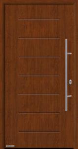 Входная дверь c терморазрывом Hormann Thermo65 МОТИВ 015 Dark oak (темный дуб)