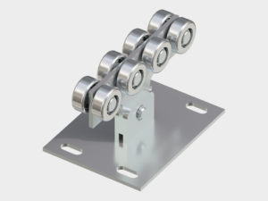 Система роликов и направляющих для балки