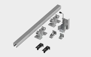 Система роликов и направляющих для балки Х/К 60Х55Х3 L=6000ММ
