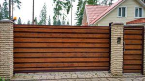 Откатные ворота из профнастила ЭКО проём до 6 м