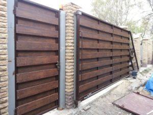 Ворота откатные из профнастила ОПИТИ проём до 6 м
