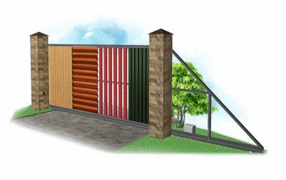 Откатные ворота 4000×2500 мм