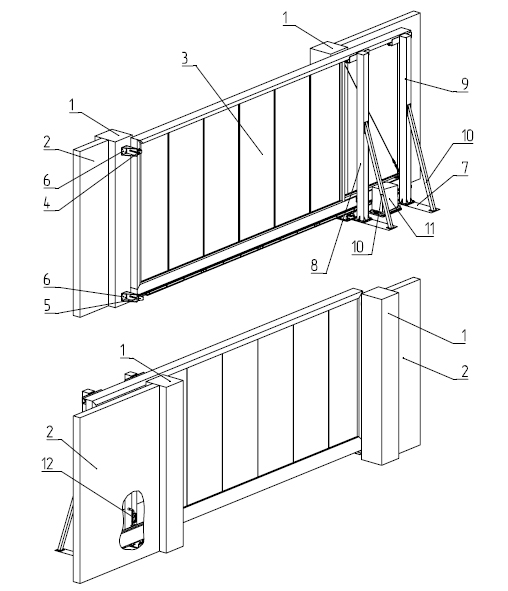 Ворота откатные Alutech ADS400