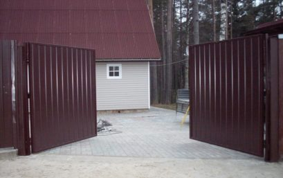 Распашные ворота 3000х2250 мм