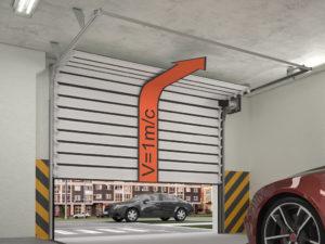 Скоростные секционные ворота ISD01 Parking