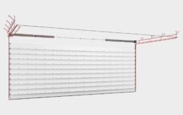 Промышленные секционные ворота с торсионным механизмом Doorhan ISD03ALU