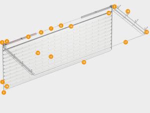 Конструкция секционных ворот ISD03